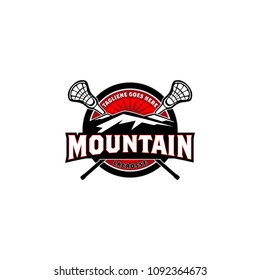 Lacrosse Mountain Logo vector Template
