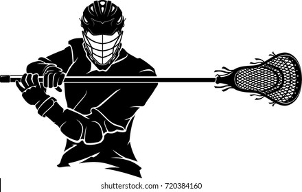 Lacrosse Player Pose Front