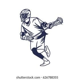 Lacrosse Player Run