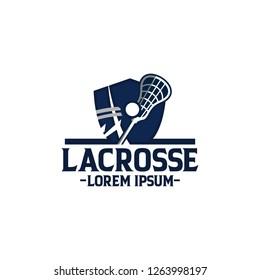 Lacrosse Sport Badge Logo Design