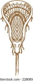 Lacrosse Sports Stick Sketch
