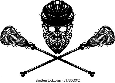 Lacrosse Stick Skull