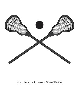 Lacrosse stick vector icon