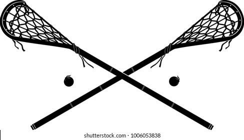 Lacrosse Stick Vintage Mohawk Symbol
