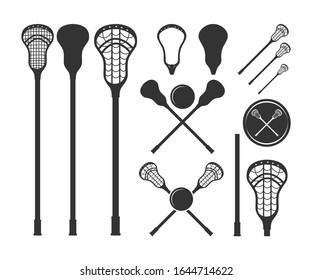 lacrosse sticks symbol icon vector illustration. Lacrosse monogram.