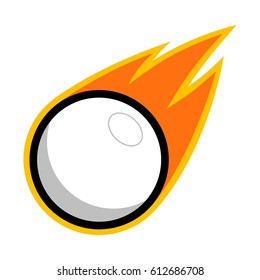 Lacrosse table tennis sport plastic ball comet fire tail flying