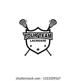 lacrosse team badge logo design