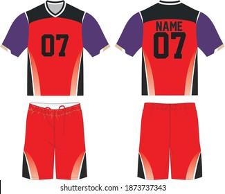 Lacrosse Uniform Sublimated Mock up template vectors for dye-sublimation printing.