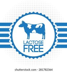 lactose free design, vector illustration eps10 graphic