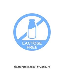 Lactose free vector icon.