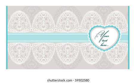 lacy envelope with free place for text