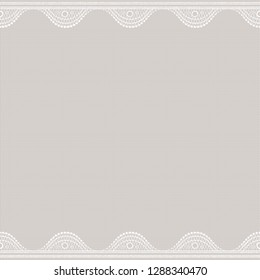 Lacy on canvas. Seamless abstract lace pattern. Vintage fashion textile.