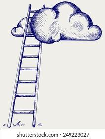 Lade Wolken. Wettbewerbskonzept. Doodle-Stil