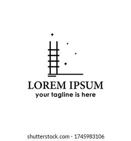 ladder dream logo concept design template vector, success, idea, creative logo