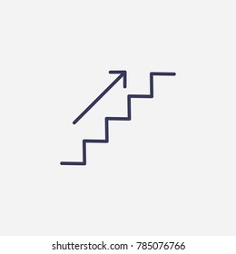 Up the ladder icon illustration isolated vector sign symbol