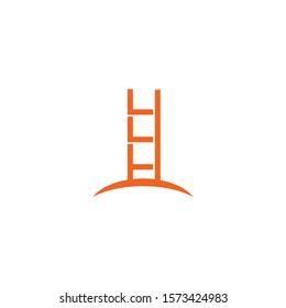 Ladder icon logo symbol design inspiration vector template illustration