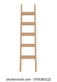 Ladder on a white background. Vector illustration.