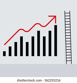 ladder and stock chart