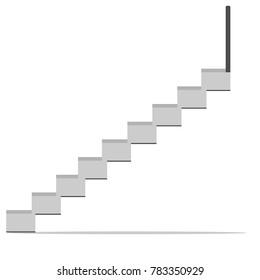 Ladder and vector illustration