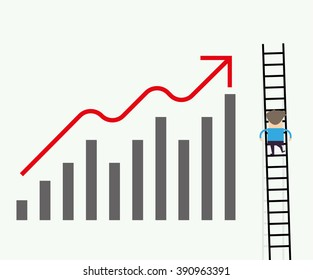 ladders chart, business concept