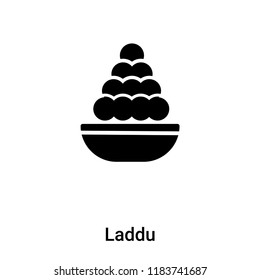 Laddu icon vector isolated on white background, logo concept of Laddu sign on transparent background, filled black symbol
