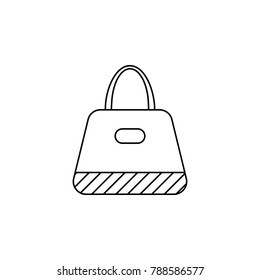 ladies handbag icon. Bags element icon. Premium quality graphic design. Signs, outline symbols collection icon for websites, web design, mobile app, info graphics on white background