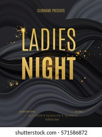 Ladies Night Party design. Vector illustration for poster, flyer or banner