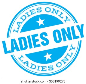 ladies only stamp