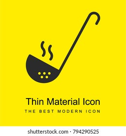 Ladle bright yellow material minimal icon or logo design
