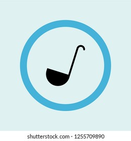 ladle icon symbol. Premium quality isolated ladle vector icon in trendy style. ladle element.