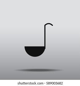 Ladle icon vector