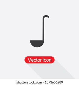 Ladle Icon Vector Illustration In Flat Style Eps10