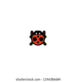 Lady Beetle vector flat isolated icon