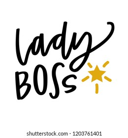 Lady Boss hand lettering