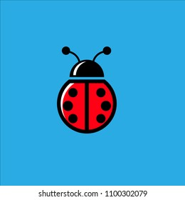 Lady bug, logo icon for sport team or company creative industry with eps 10 format