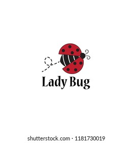 lady bug logo template design