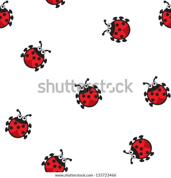 Lady bug seamless pattern