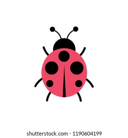 lady bug simple icon