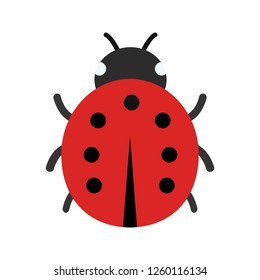 Lady Bug Vector Icon Sign Icon Vector Illustration For Personal And Commercial Use...