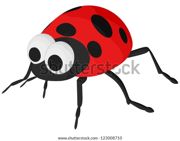 Lady Bug (vector, isolated on white background)