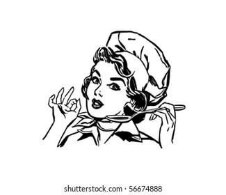 Lady Chef - Retro Clip Art