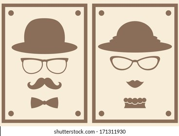 lady and gentleman with glasses symbol