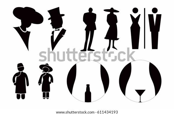 lady gentlemen toilet sign vector stock vector royalty free 611434193 https www shutterstock com image vector lady gentlemen toilet sign vector 611434193