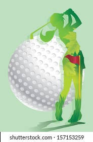 lady golfer background