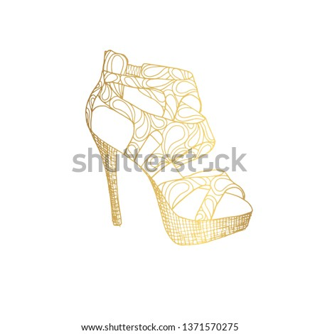 45f9f222c4e Lady High Heels Woman Tstrap Girl Stock Vector (Royalty Free ...