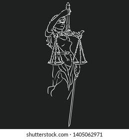 Lady Justice is an allegorical personification of the moral force in judicial systems.
