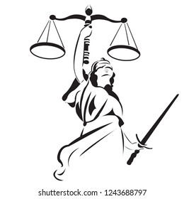 Lady Justice is a common sight on courthouses and legal institutions. Themis, the Greek goddess of justice and law, commonly known for her clear-sightedness.