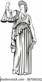 lady justice . Greek goddess Themis.Equality .A fair trial.Law.