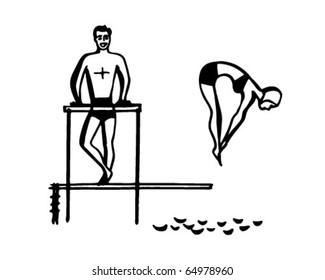 Bodybuilder Lifts Heavy Barbellillustrationblack Whitedrawingoutline