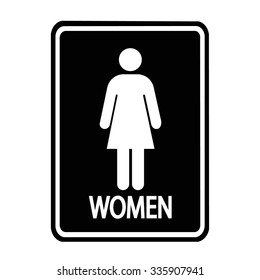a lady toilet sign